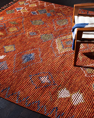 Nahla Currant Hand-Knotted Runner  2' x 8'