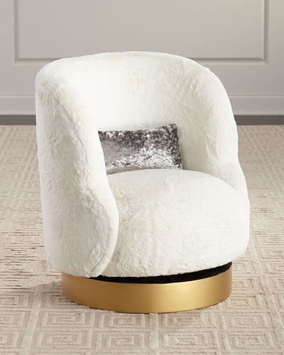 Mischa Pouf Swivel Chair