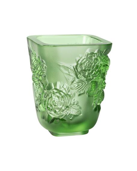 Green Pivoines Small Vase