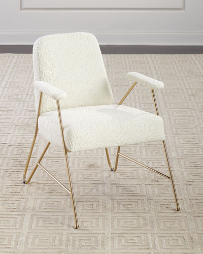 Georgie Faux Sheepskin Lounge Chair