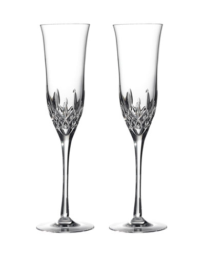 Lismore Essence Champagne Flutes  Set of 2