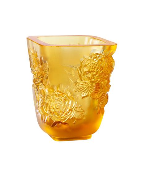 Amber Pivoines Small Vase