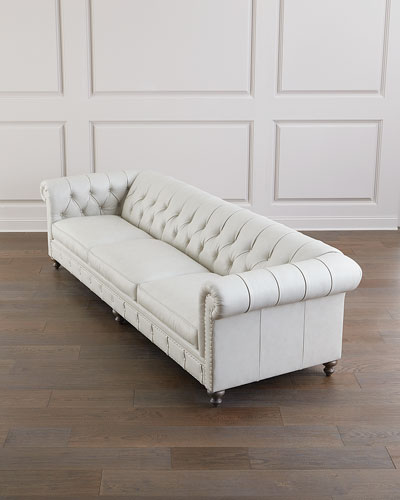 London Leather Club Sofa - 116