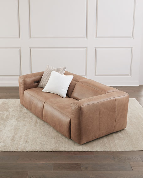Bernhardt Cosmo Leather Power Motion Reclining Sofa