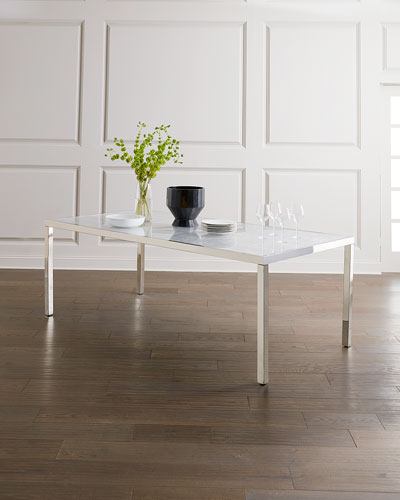 Arcadia Stainless Steel Dining Table