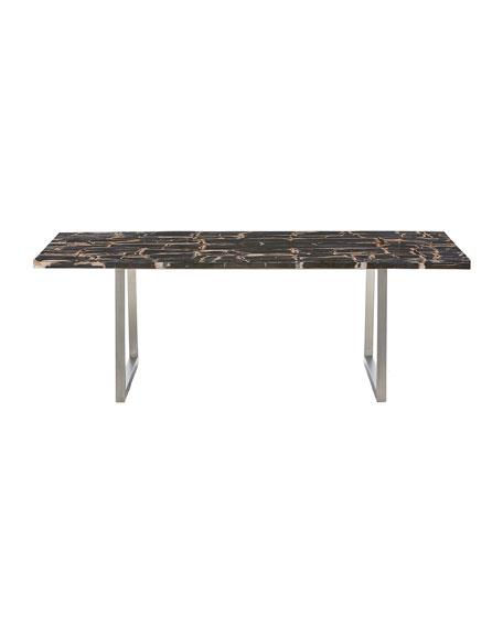 Pierre Noir Petrified Stone Dining Table