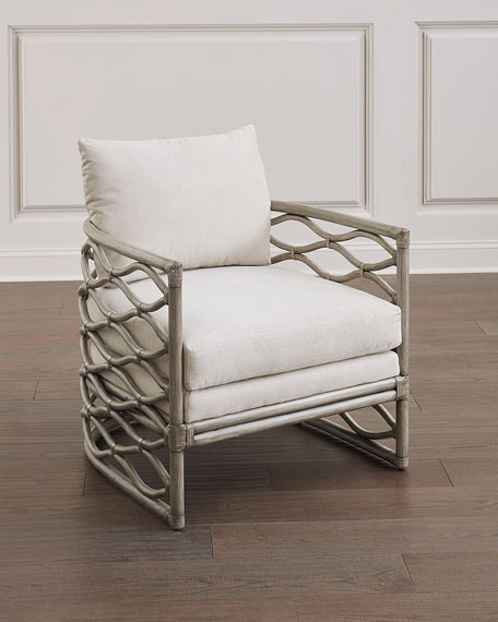 Bernhardt McKinley Rattan Wrapped Chair