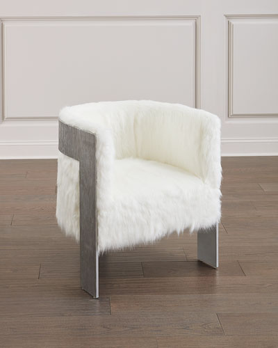 Cosway Faux-Fur Tub Chair