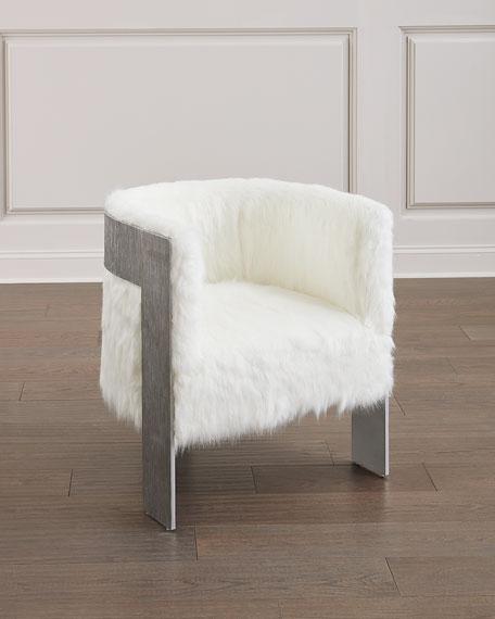 Bernhardt Cosway Faux-Fur Tub Chair