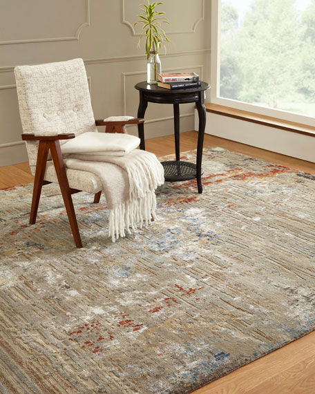 Braddock Hand-Knotted Rug, 6' x 9'