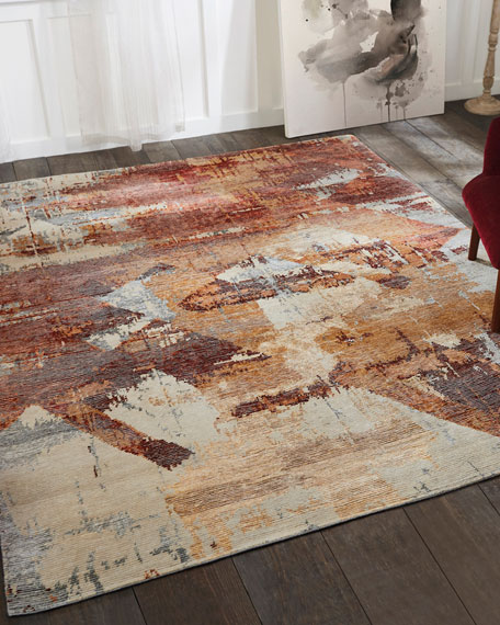 Birdsong Hand-Knotted Rug, 4' x 6'