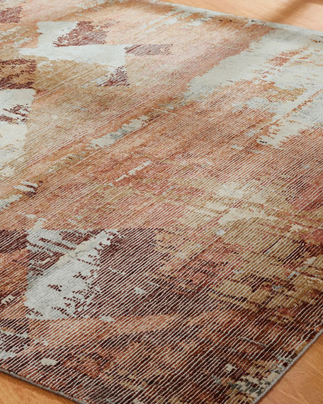 Birdsong Hand-Knotted Rug, 6' x 9'