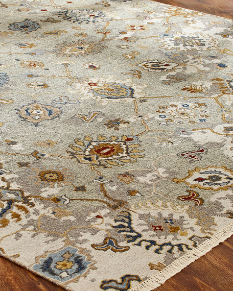 Maiden Soumak Weave Knotted Rug, 6' x 9'