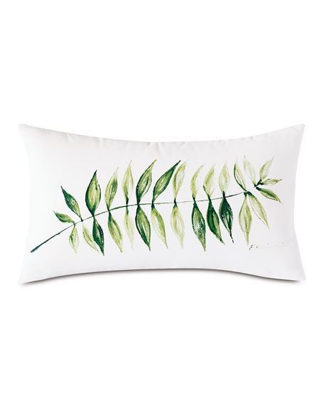 Hand Painted Leaf Pillow