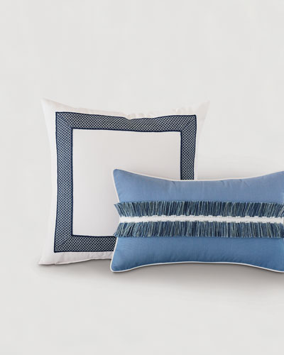 Sky Fringe Lumbar Pillow