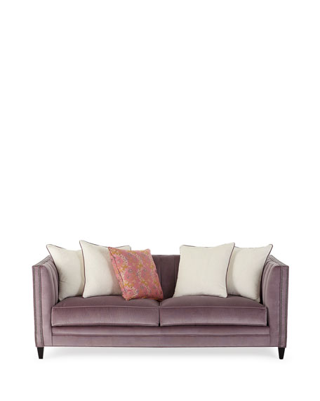 """Zoey Channel Tufted Sofa, 85"""""""