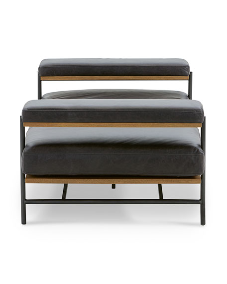 Gia Modern Leather Chaise