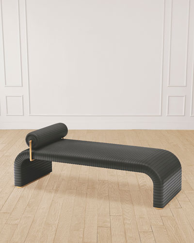 Cade Graphite Leather Daybed
