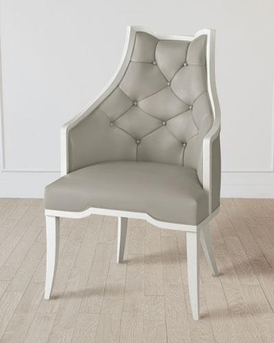 Logan Antique White/Chesterfield Gray Arm Chair