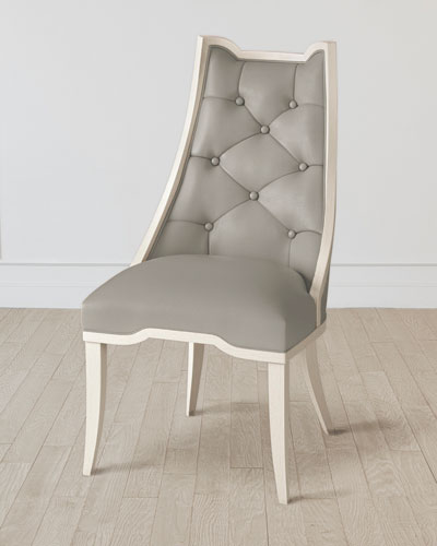 Logan Antique White/Chesterfield Gray Dining Chair