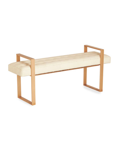 Dakota Milk Leather Bench