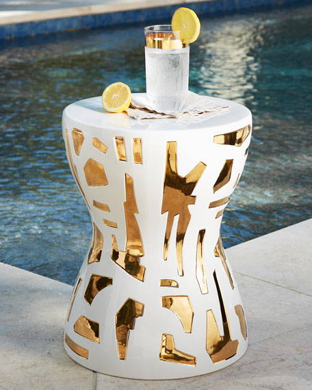 Emporium Home for William D Scott Abstract Gold/White