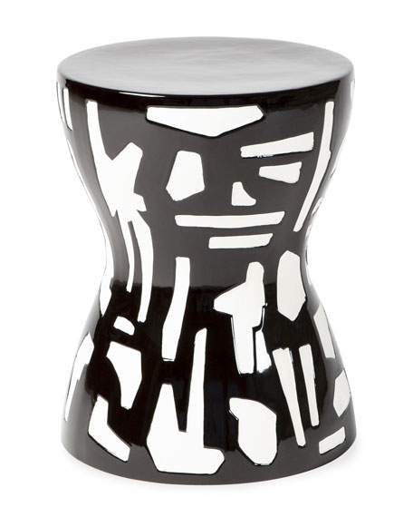 Abstract Black/White Stool