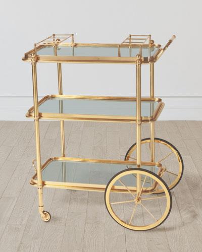 Spoke Wheel Bar Cart