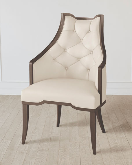 Logan Walnut/Milk Leather Arm Chair