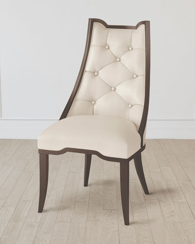 Logan Walnut/Milk Leather Dining Chair