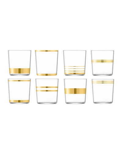 Deco Assorted Tumblers  Set of 8