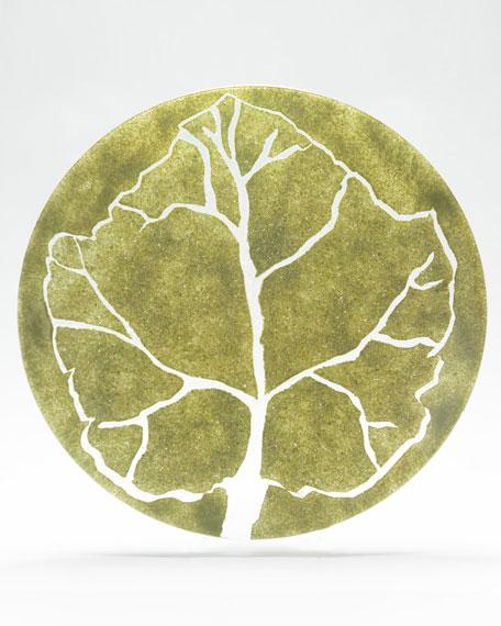 Large Parra Green Leaf Charger