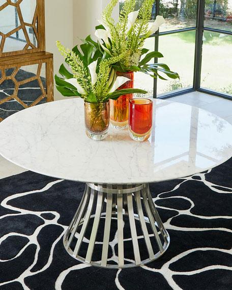Aero Stainless Steel/Carrera Marble Table