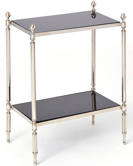 Acorn Nickel Side Table