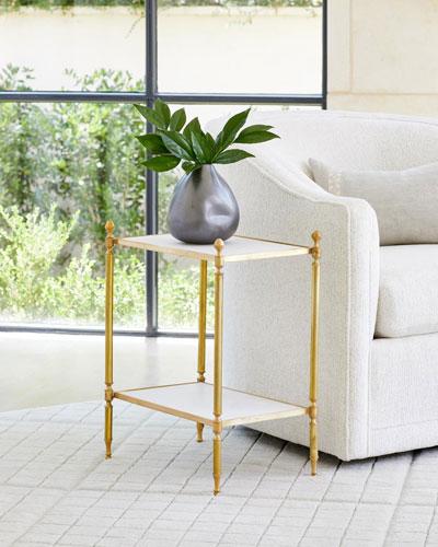 Acorn Brass Side Table