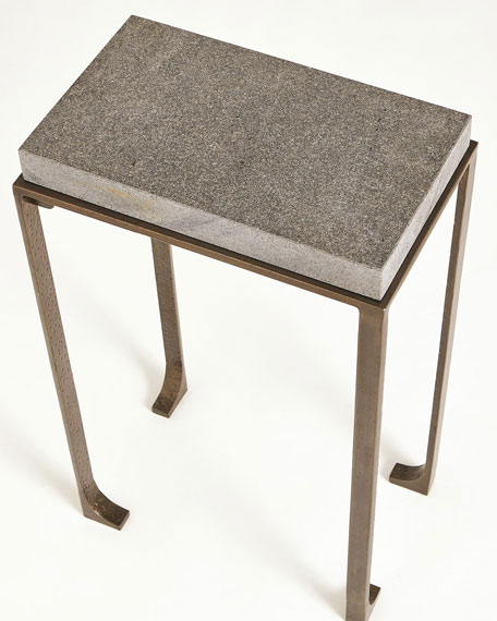 Large Zen Side Table with Flamed Granite Top