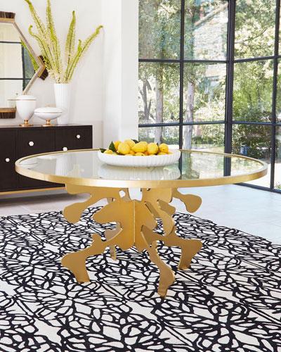 Ink Blot Gold Leaf 48 Dining Table