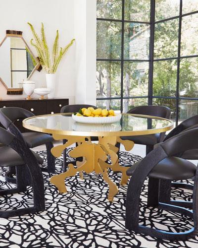 Ink Blot Gold Leaf 60 Dining Table