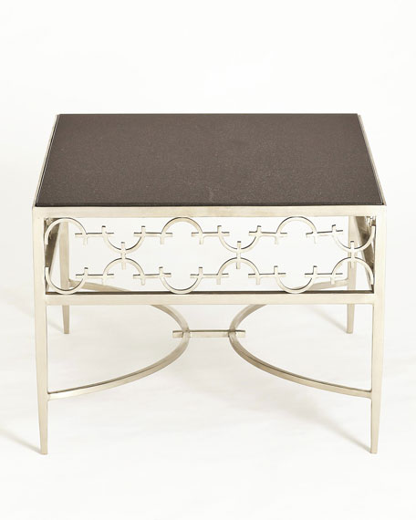 C-Fret Silver Cocktail Table