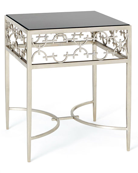 C-Fret Silver Side Table