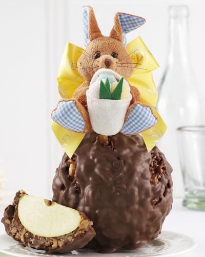 Milk Chocolate Walnut/Pecan Hoppy Bunny Jumbo Caramel Apple