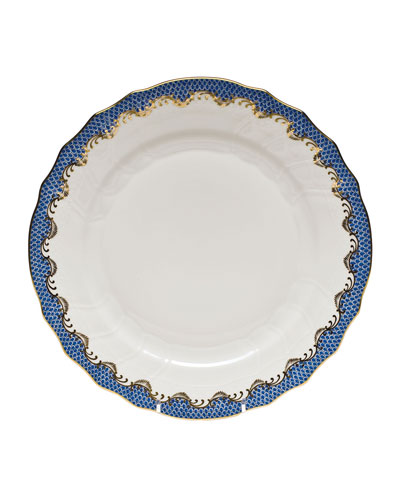 Blue Fish Scale Dinner Plate