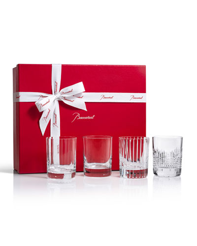 Four Elements Double Old-Fashioneds  Set of 4