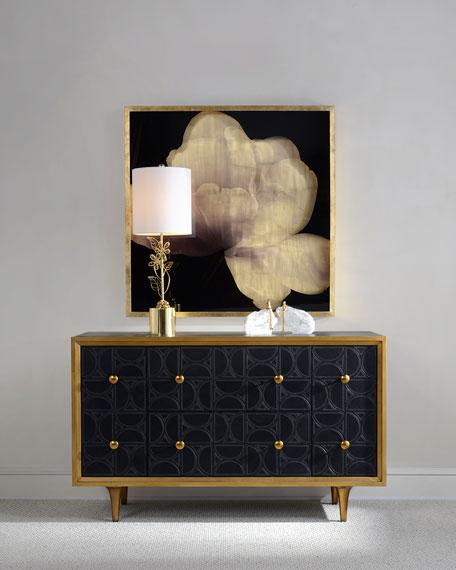 John-Richard Collection Hadleigh Leather Sideboard