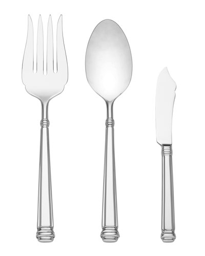 abington square 3-piece serving set