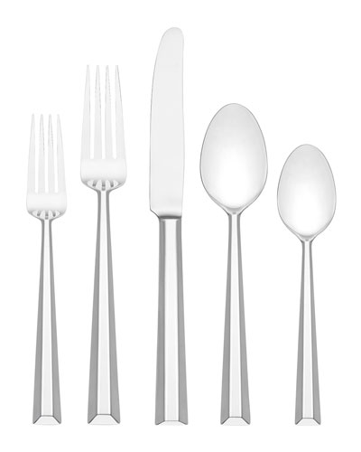 library lane 5-piece flatware set