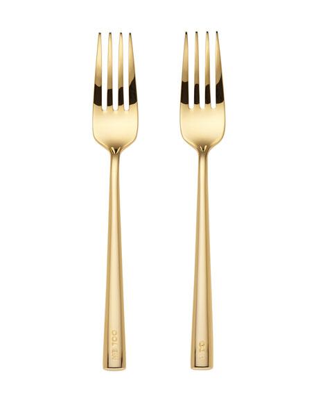 i do, me too 2-piece fork set