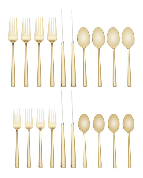 malmo gold 20-piece flatware set