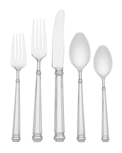 abington square 5-piece flatware set
