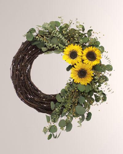 22 Sunny Day Sunflower Wreath